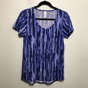 LulaRoe Classic T Blue and Purple Paint